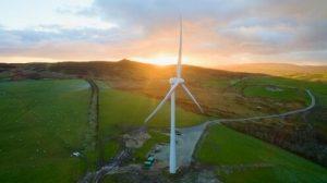 Nant Bach wind turbine, north Wales