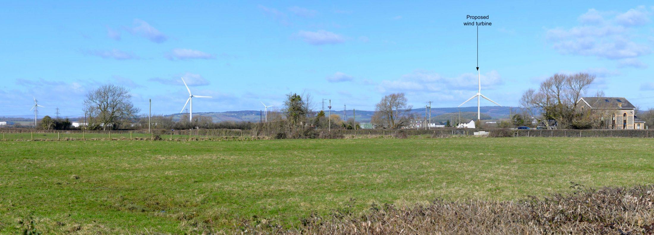 Rush Wall Lane wind turbine, Newport