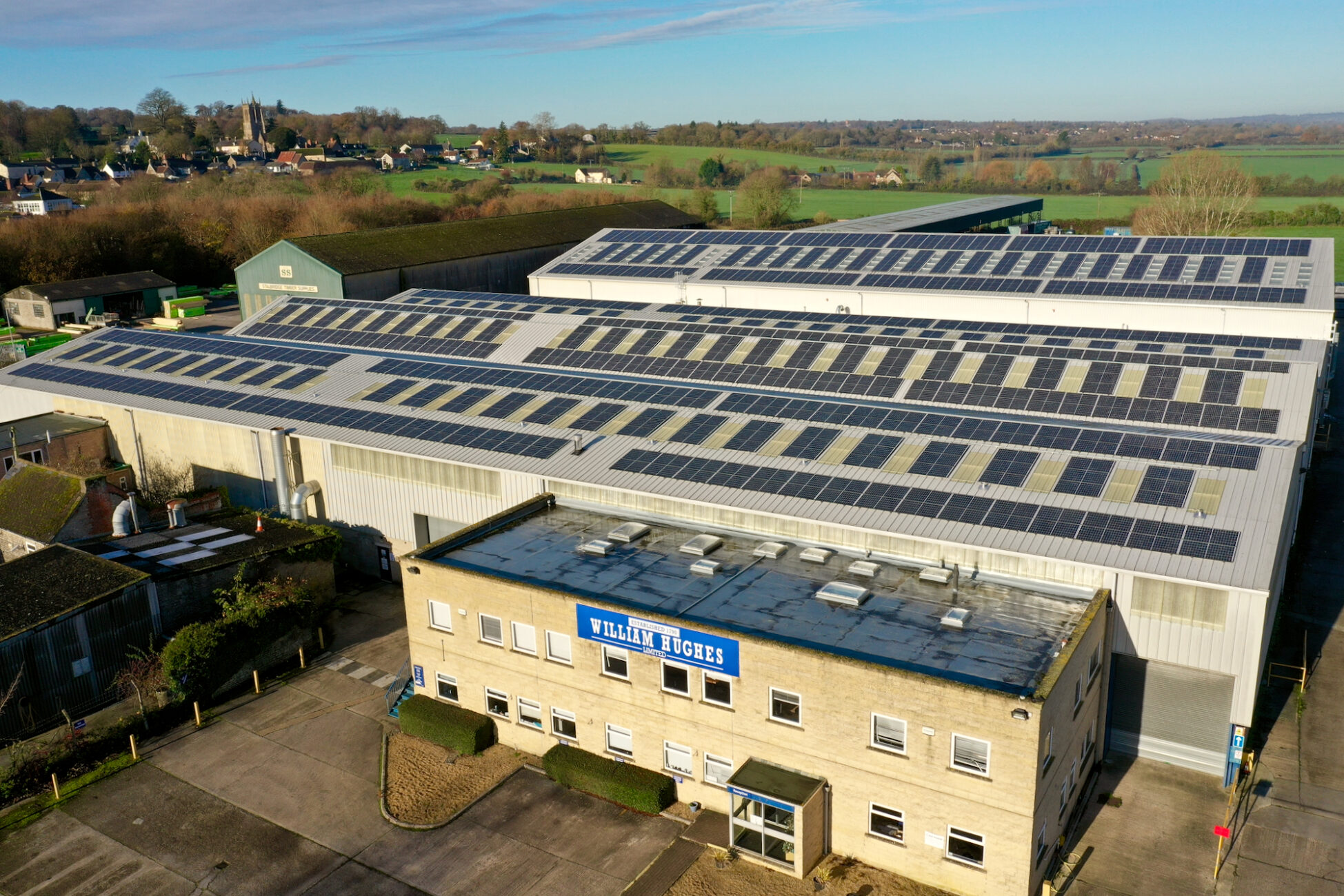 CleanEarth solar PV installation for William Hughes Group